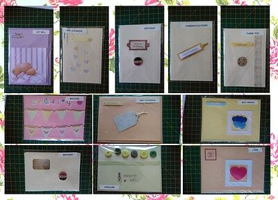"HANDMADE CARD BUNDLE 11 cards various approx 5X7"" joblot craft room clear out 2"