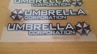 2 Umbrella Corporation Aufkleber Sticker Resident Evil Decal Folie