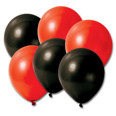 10 -100 Party Red & Black Plain Latex Balloons High Quality Of Latex Helium/Air