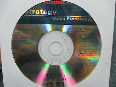 Toshiba Stratagy Voice Processing Advisor & E Brochure Documentation & S/W CD