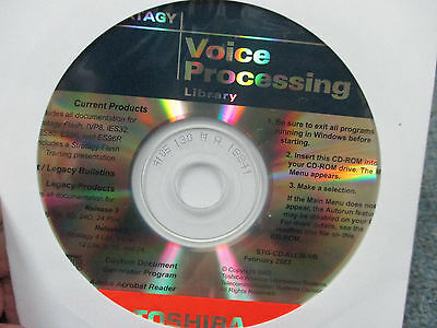 Toshiba Stratagy Voice Processing Library Client Documentation & Software CD