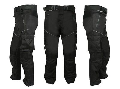 Motorbike Motorcycle Cargo Waterproof Cordura CE Approved Textile Trousers Pants