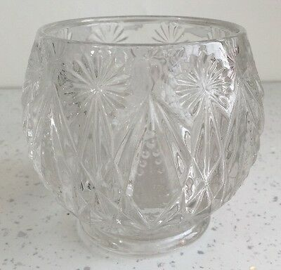 . Avon 13 Circular ROUND Clear GLASS VASE V.Heavy