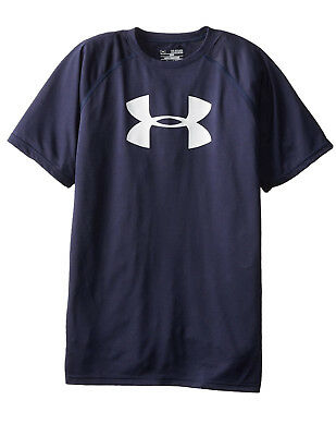 Under Armour Boy's Big Logo Tee, Navy/White (1228803-410)