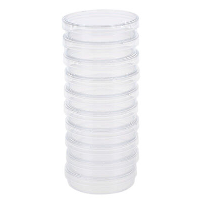 10 pcs 60mm x 15mm polystyrene sterilized Petri dishes with lids Clear Z4N9