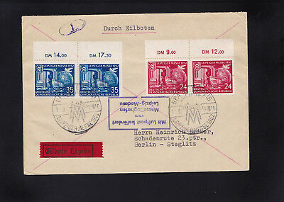 DDR, Lupo Express Brief 1952 aus Leipzig nach Berlin