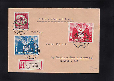 DDR, Reco Brief 1951 aus Berlin nach Berlin West
