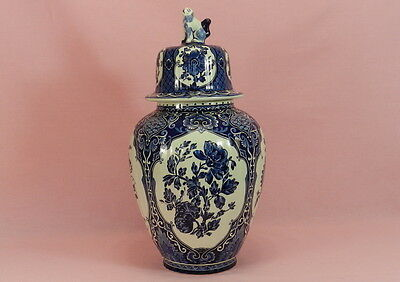 Vase Faience Delft Royal Sphinx Boch