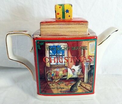 Sadler Teapot Classic Stories The Night Before Christmas Made in England 16 oz