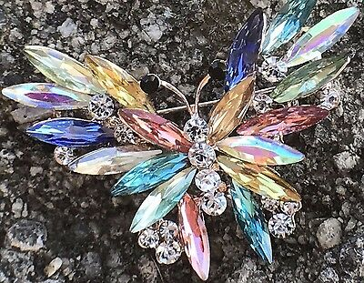 Butterfly Pin Brooch Crystal Rhinestone Women Fashion Jewelry Wedding Party Gift