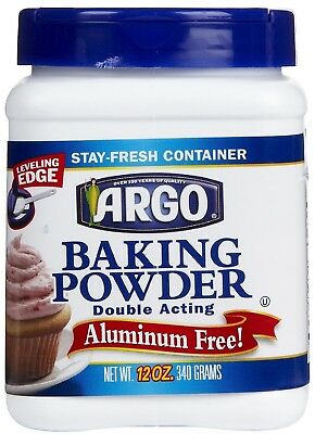 Argo Baking Powder 12 Oz Double Acting Aluminum Free