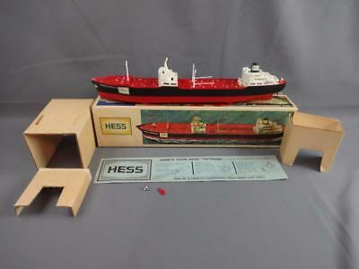 Vtg 1966 Hess Voyager Tanker Ship Working w/Box Inserts Instructions & Deck Acc