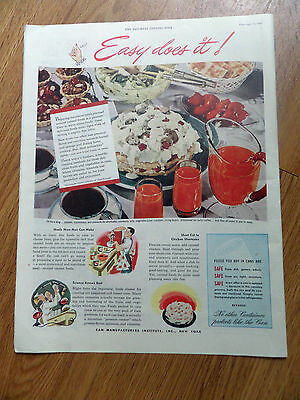 1947 Can Manufacturers Institute New York Ad All come to you in Cans