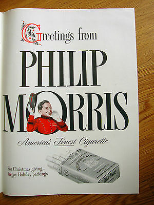 1941 Old Forester Whiskey Ad - 1941 Philip Morris Cigarette Ad Christmas Theme