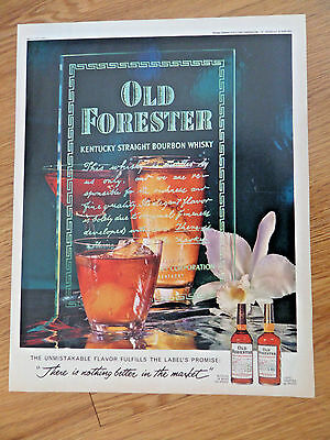 1962 Whiskey Ad Old Forester  The Label's Promise