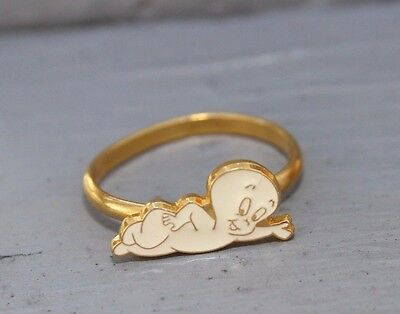 Casper The Friendly Ghost Harvey Productions Metal Toy Ring Free Shipping