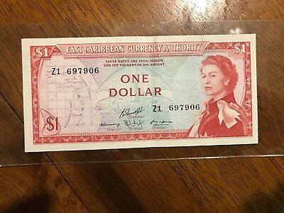 Bahamas East Caribbean Currency Authority $1 Replacement Note 1965-