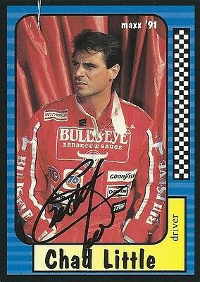 Chad Little Autographed Signed 1991 Maxx Racing Nascar Photo Trading Card #19