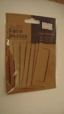 Docrafts bare basics label holders 8 pieces