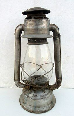 Old Vintage Meva No. 865 Glass Globe Kerosene Lamp Lantern Made Czechoslovakia