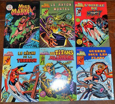 Marvel Artima Color Super Star MISS MARVEL lot de 6 numéros: 1 2 4 5 6 7 TTBE
