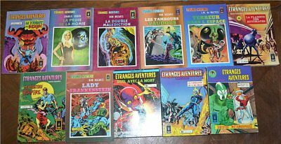 Arédit Comics Pocket COLLECTION ETRANGES AVENTURES 14 numéros vers 1980 TTBE