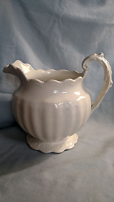 Sebring Pottery Company Whiteware Pitcher - Kent Pattern