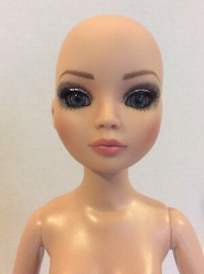 "Tonner Wilde ELLOWYNE 16"" Fashion Doll Bald Nude Rooted Lashes Blue Inset Eyes"