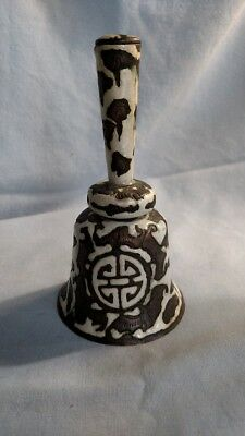 Antique Chinese Bell - Bats and Shou Symbol - Late 19th Century