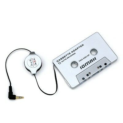 IOMAX Car Cassette Adapter with Retractable Cable