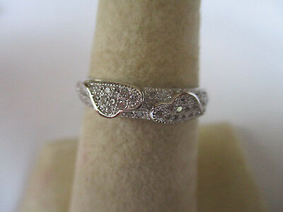 Sterling Silver Ring Heart to Heart shape 925 silver love connection size 9