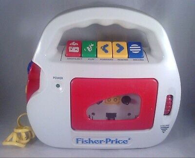 1992 Fisher Price Vintage Cassette Player & Recorder Mic Model 3800 works great!