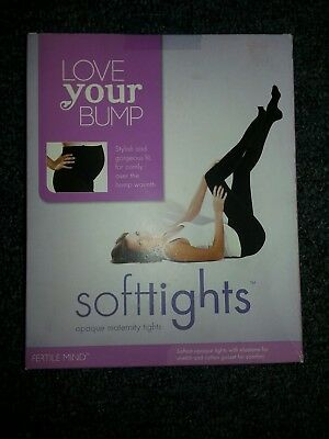 Love Your Bump  Black Maternity Tights Size 2