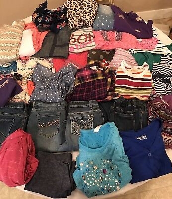 HUGE 35 Pc Lot GIRLS Fall/Winter CLOTHES Sz 14/16 ~ Great Brand Names