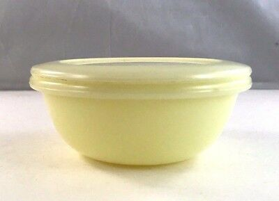 McKee Seville Yellow Glass Small Lidded Berry/Storage Bowl