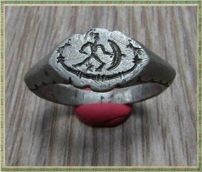 Ancient Silver LEGIONARY Roman Ring ** GALLEY and TWO EAGLE and LEGIONARY**