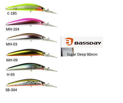 Bassday Sugar Deep 90SP Lure Suspending Hard Body Lures great for Sand Flats