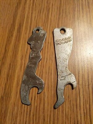(VTG) 2 1930-40s Women's Leg And Alderson Gulf Service Orland Indiana Openers