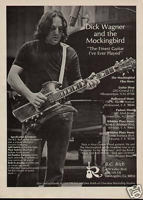 1976 Dick Wagner Of Alice Cooper B.c. Rich Guitar Ad