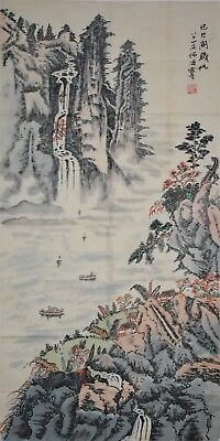 Fine Large Chinese Painting Signed Master He Haixia Rare Vt8282