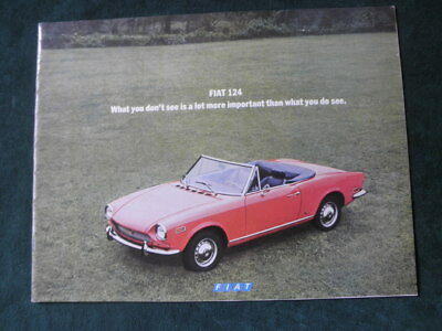 1971 Fiat 124 Sport Coupe Spider Station Wagon Brochure