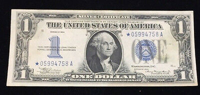 1934 Star Silver Certificate - $1 United States