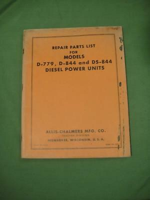 Vintage Allis Chalmers Tractor Manual Diesel Power Units D 779 D 844 Ds 844 Usa