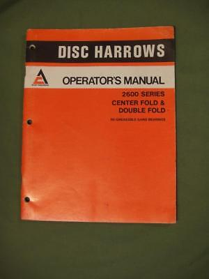 Vintage Allis Chalmers Tractor Manual Disc Harrows Operator's Manual 2600 Series