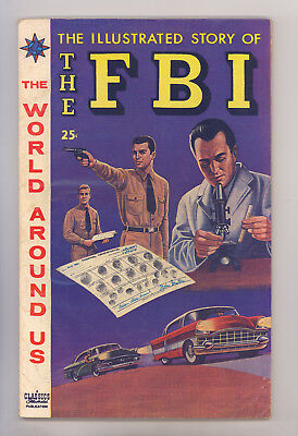 World Around Us #6 FN Illustrated Story of the FBI, Disbrow, Ingels