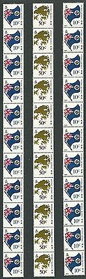 Hong Kong 1987 & 1990 Definitive Flag & Map Coil Stamps in strips of 11 MNH