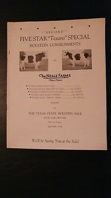 Neale Farms 1948 Holstein Herd Directory & Pedigree Book - Waco Texas