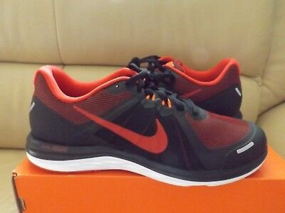 Nike Dual Fusion X 2 Men's Running Trainers Shoes Size 10.5 Black/Red  819316 007