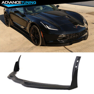 C7 Stingray Corvette OEM Front /& Rear Bumper Carbon Flash Flags Emblem Set Black