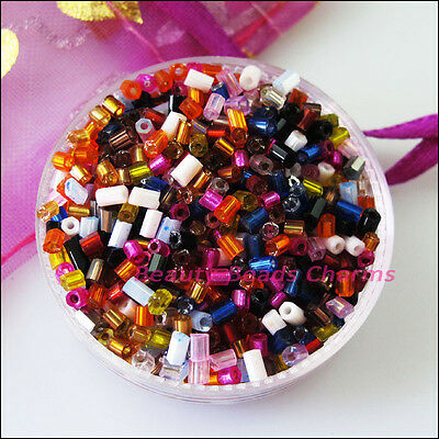 1200Pcs Mixed Tiny Tube Glass Spacer Beads Charms 2mm